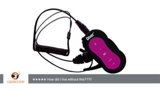 Diver (TM) Waterproof MP3 Player. 4 GB. Kit Includes Waterproof Earphones. NEW. (Pink) | Review/Test