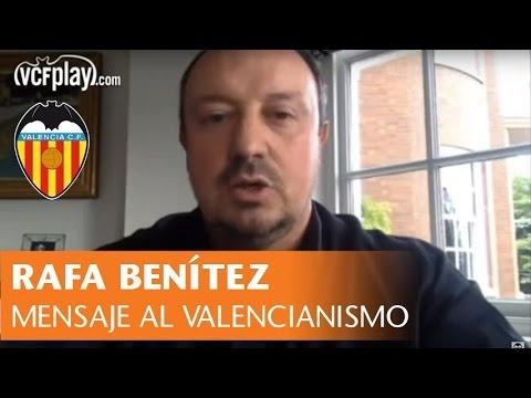Valencia CF: Mensaje de Rafa Benítez al valencianismo