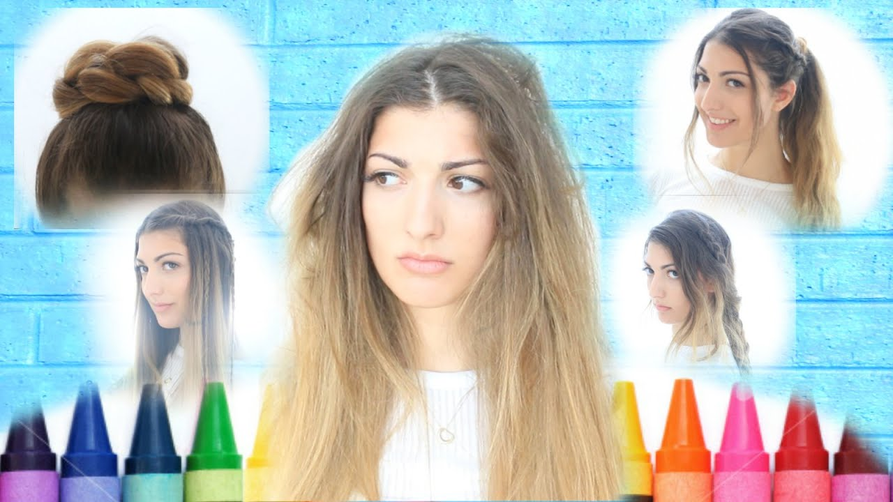 My Back To School Hairstyles Youtube
