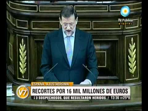Visión Siete: España: Rajoy anunció un duro programa de ajuste