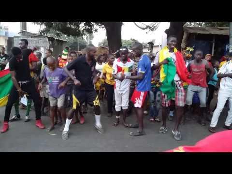 La fête du football à Conakry