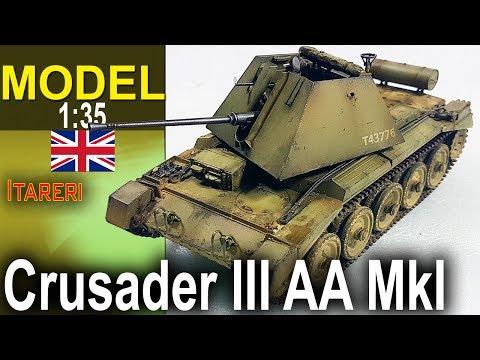 Crusader III AA Mk1 - Italeri 1:35 - Modelarstwo
