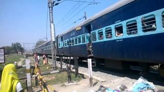 BJU-SPP Pass. WDM 3A .At Shahpur patoree station.