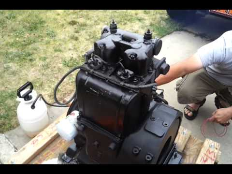 Hatz Z790 Used Diesel Air Cooled 2 Cylinder Engine Youtube