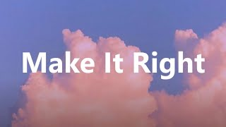 BTS  -  ' Make It Right ' (feat. Lauv) (easy lyrics/pronunciacion)