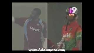 Bangladesh vs West Indies 5th ODI Pollard Asks Nasir to hit Six www.Addamoza.com