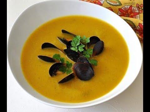 Крем - суп из тыквы с мидиями
