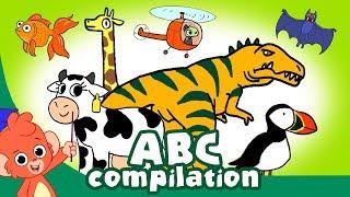 ABC's Learning for Kids | Animal ABC | Dinosaurs ABC | Alphabet cartoon compilation