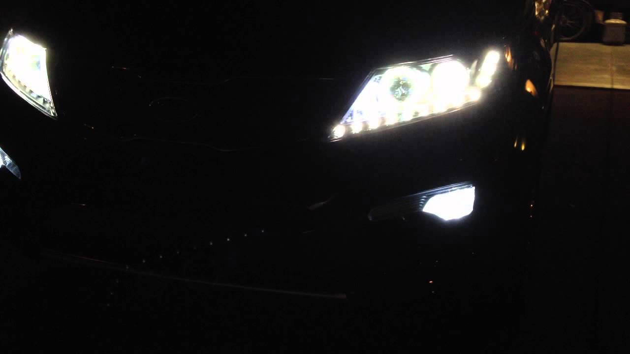2013 Kia Sorento With Ccfl Halo And Led Headlights Youtube