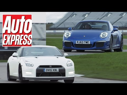 Porsche 911 GT3 vs Nissan GT-R track battle