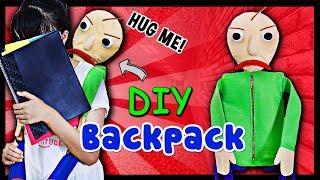 BALDI'S BASICS IN EDUCATION AND LEARNING! DIY CREEPY CUTE Baldi's Basics Hug Me Backpack! NO SEW!
