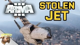 ARMA 3 HIJACKED JET! | James Bond moves in a custom CO-OP mission