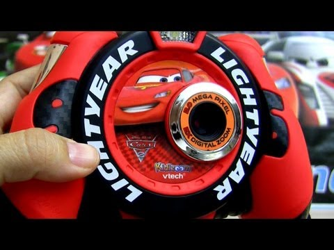 Cars 2 Kidizoom Lightning Mcqueen Digital Camera Vtech Disney Pixar how-to take photos with Mater