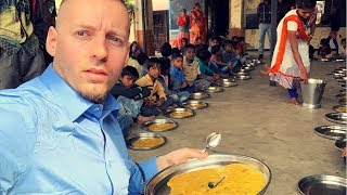 Trying India's FREE Government School Meal 🇮🇳