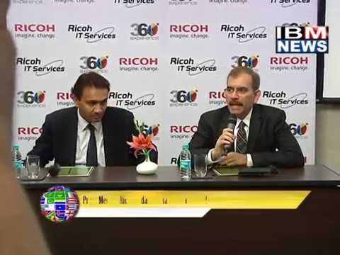 IBM NEWS_Press Meet of Ricoh India Postsan Aggressive 45% revenue from IT Services.