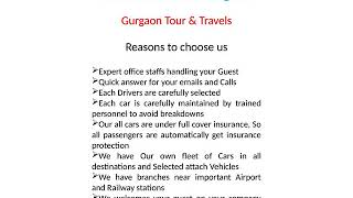 Best Rental Car in Gurgaon