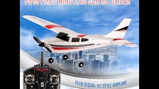 WLtoys F949 Cessna 182 2.4G 3 Channel - Review and flight