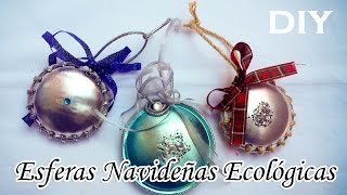 DIY: Esferas Navideñas de Fondos de lata | Soda can bottom Christmas Tree Sphere