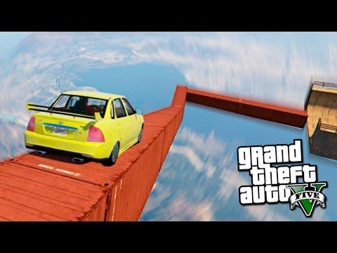 GTA 5 Моды: Летающая приора на рампах - Карты на прохождение