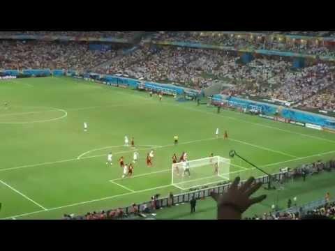 2:2 by Miroslav Klose. Germany vs. Ghana in Arena Fonte Nova in Fortaleza. 2014 World Cup Brazil