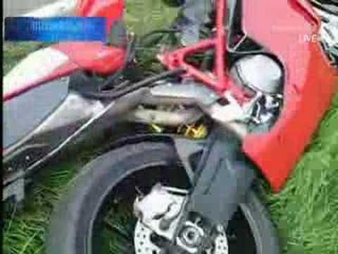 German ghostrider crashes at 140km/h!