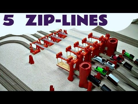 Thomas The Tank Engine Thomas and Friends Trackmaster 5 ZIP-LINEs ZOOM