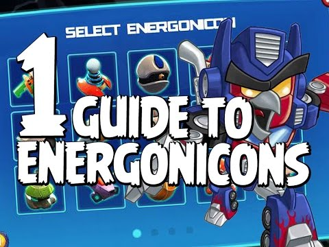 Angry Birds Transformers Energonicons Guide  - Part 1 of 3  - Lazerblast, Boomshake, Ghostbot & More