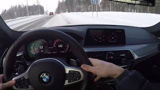 BMW M550i - 462hp - POV Drive in the Snow