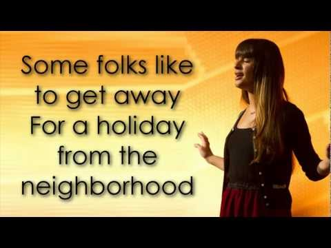 Glee - New York State Of Mind (lyrics) video