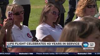 '40 years of saving lives': Utah governor, rescued runner mark Life Flight anniversary