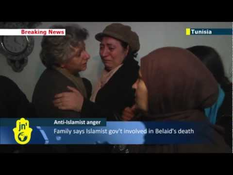 Anti-Islamist assassination: relatives gather at Tunisian secular leader Chokri Belaid's home
