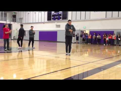 Kinjaz Dance Crew visits Pasco High School