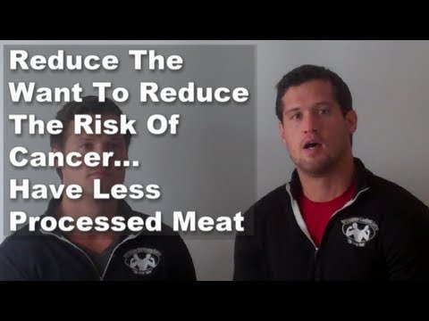 Milton Keynes Bootcamp - Reduce The Want To Reduce The Risk OF Cancer... Have Less Processed Meat
