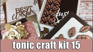 Tonic craft kit 15   Unboxing & 4 cards