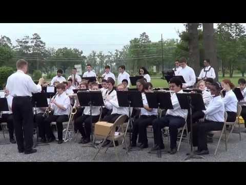 Vineland High School Band Plays USMC, USAF, USCG, USN & US ARMY Melodies.