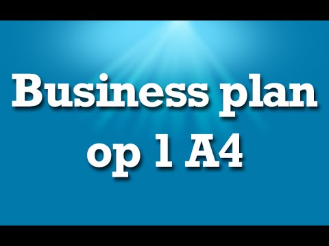 Business Plan Op 1 A4