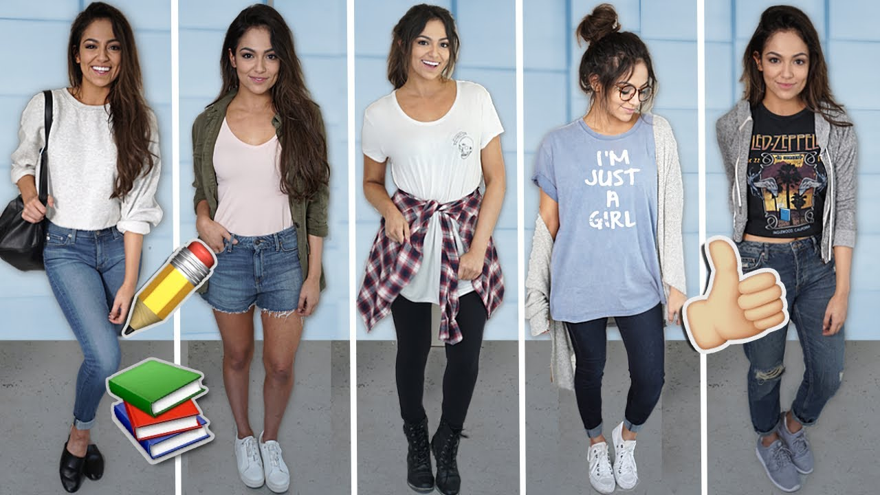 5 EASY GO-TO OUTFITS FOR SCHOOL | Back To School 2017!