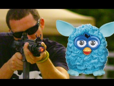 Furby vs HK 416 Assault Rifle and C4 in Super Slow Mo