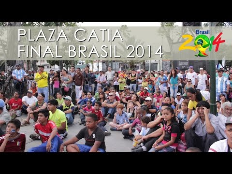 Final del Mundial Brasil 2014 / Plaza Catia - Caracas
