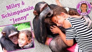 Miley & SCHIMPANSE Jenny - super coole Erfahrung mit einem Affen   Mileys Welt
