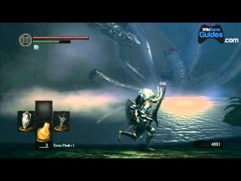 Dark Souls Walkthrough - 7 Headed Water Dragon (Reward: Dragon Scale, Dusk Crown Ring) (Part 016)