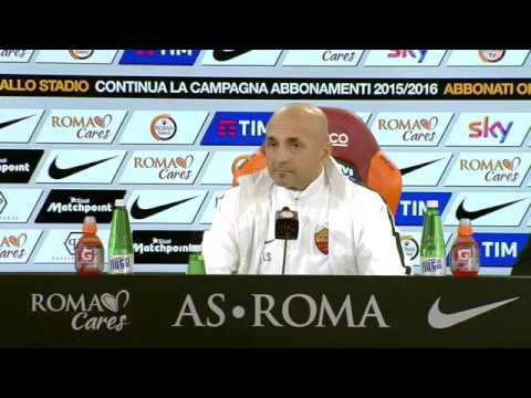 Luciano Spalletti, conferenza stampa, Sassuolo - Roma - VIDEO INTEGRALE HD