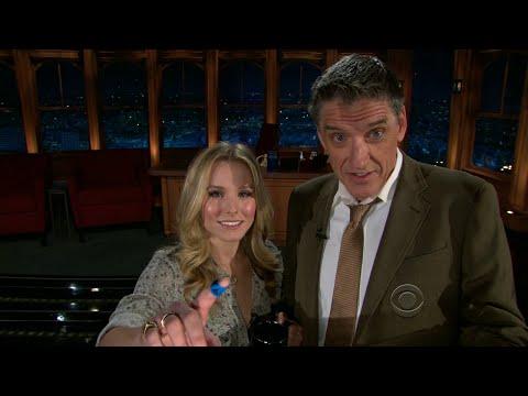 Late Late Show with Craig Ferguson 12/3/2010 Kristen Bell, Michael Franti