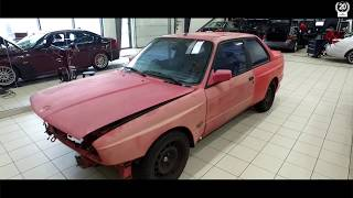 BMW M3 E30 EVO2 arrives at Schmiedmann Odense