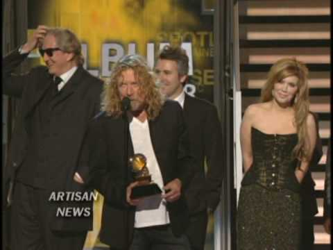 Robert Plant and Alison Krauss took home five Grammy Awards including Record and Album of the Year for their hit album 'Raising Sand.'