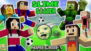 Fgteev familie slijm voetbalwedstrijd! super leuke minecraft spel w / furby menigte