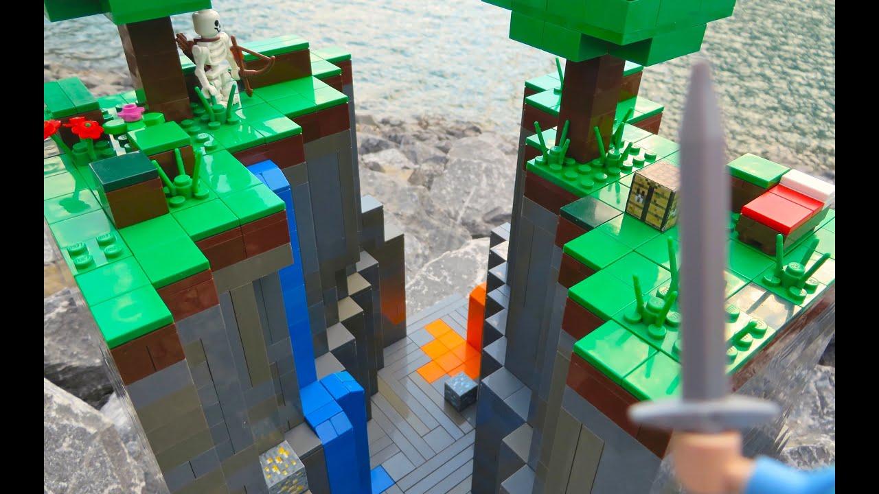 Lego Minecraft Ravine Youtube