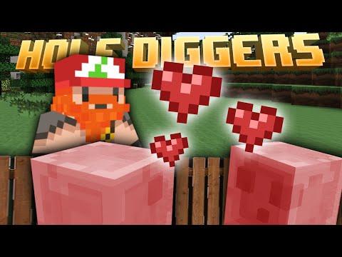Minecraft - Breeding Pink Slimes - Hole Diggers 41 video