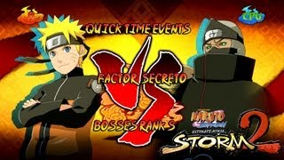 Naruto Ultimate Ninja Storm 2 1080p Boss 6 Kakuzu Rank S | Naruto vs Kakuzu Factor Secreto