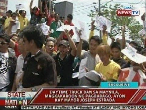 Daytime truck ban sa Maynila, magkakaroon ng pagbabago ayon kay Mayor Joseph Estrada